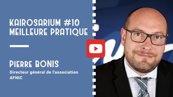 """Portrait de Pierre Bonis, DG de l'association AFNIC et mentions des titres de la vidéo """"meilleure pratique de DG #10"""""""