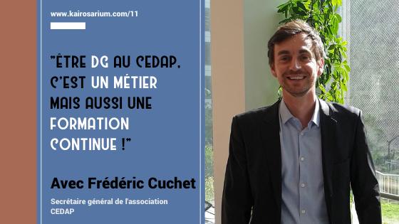 Portrait de Frédéric Cuchet, Secrétaire général de l'association CEDAP.