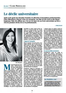 Interview de Claire Ribouillard dans Connect'IAE Lyon, c'est une photo de l'article.
