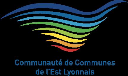 Logo de la CCEL, une vague avec de multiples couleurs