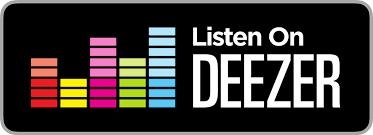 Logo et mention listen on Deezer sur un fond noir
