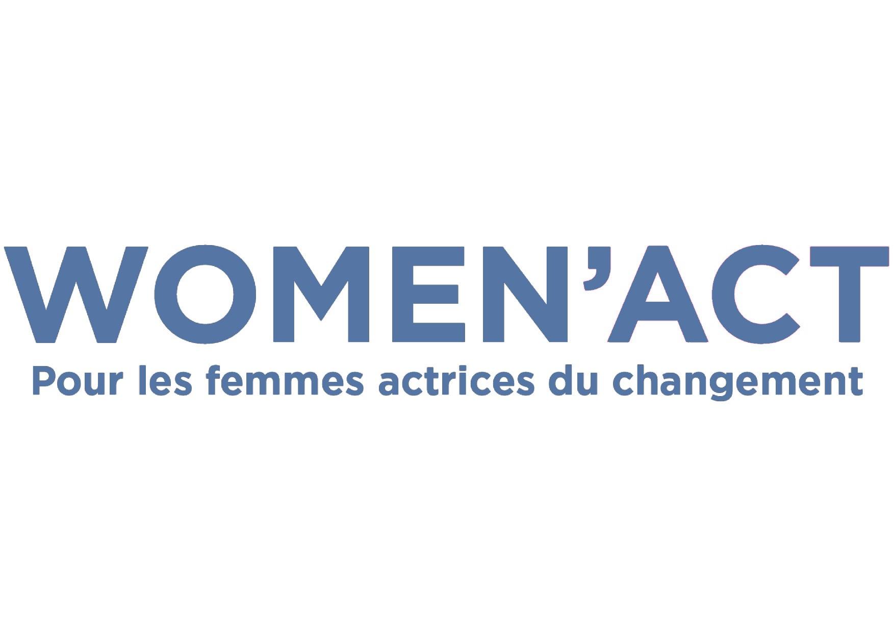 Logo Women act au bleu d'Assopreneur·e