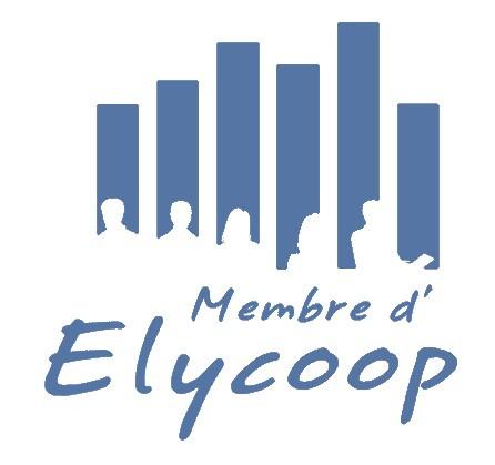 Logo membre d'Elycoop à la couleur bleue d'Assopreneur·e
