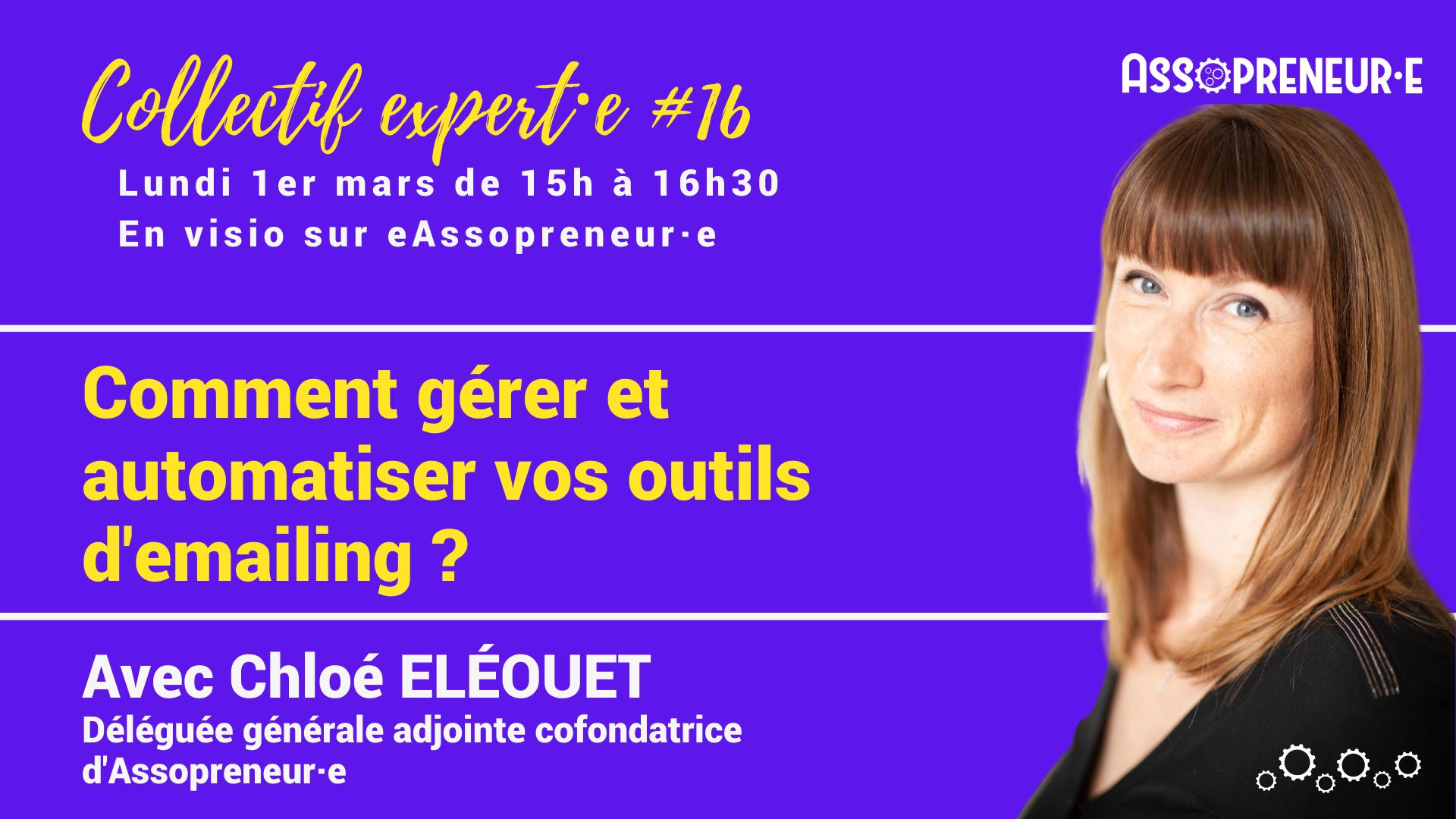 Collectif expert 16 emailing assopreneur Chloe Eleouet