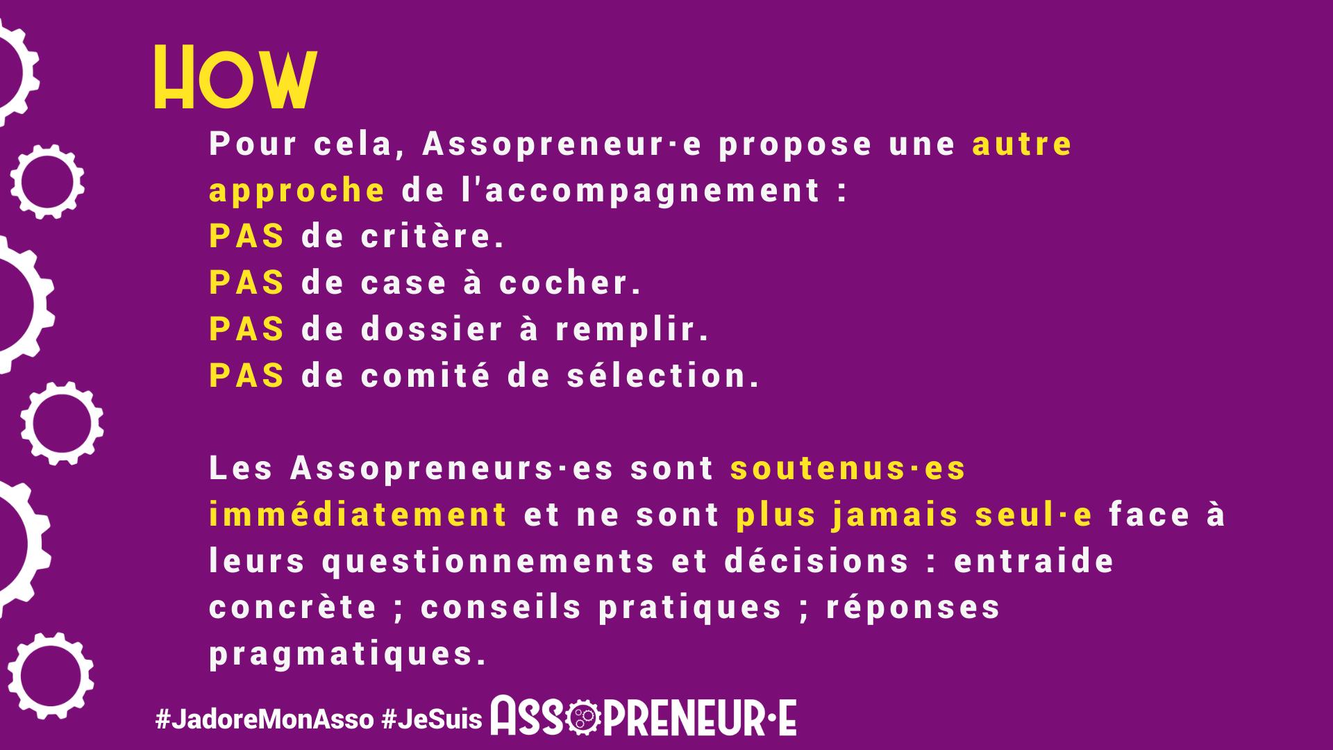 Assopreneur propose une autre approche de l'accompagnement pour les associations.