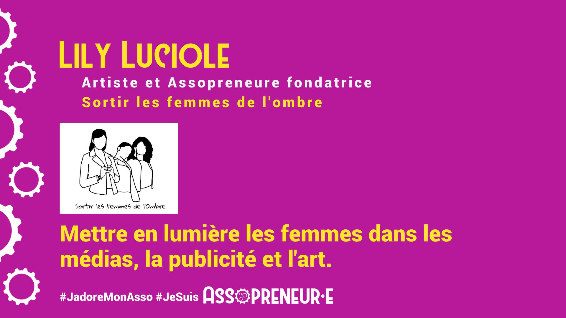 Lily LUCIOLE membre programme Assopreneur