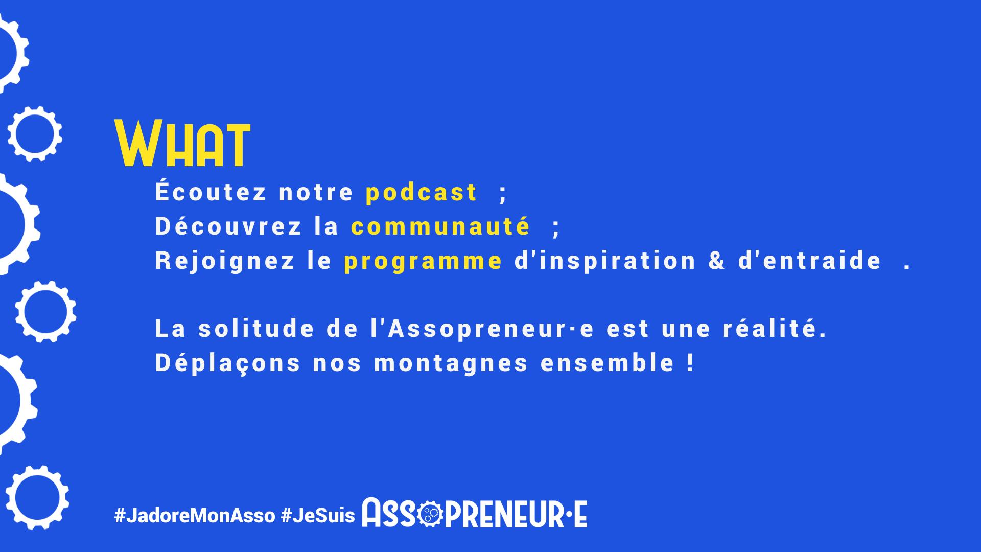 Un podcast, une communauté et un programe d'inspiration et d'entraide