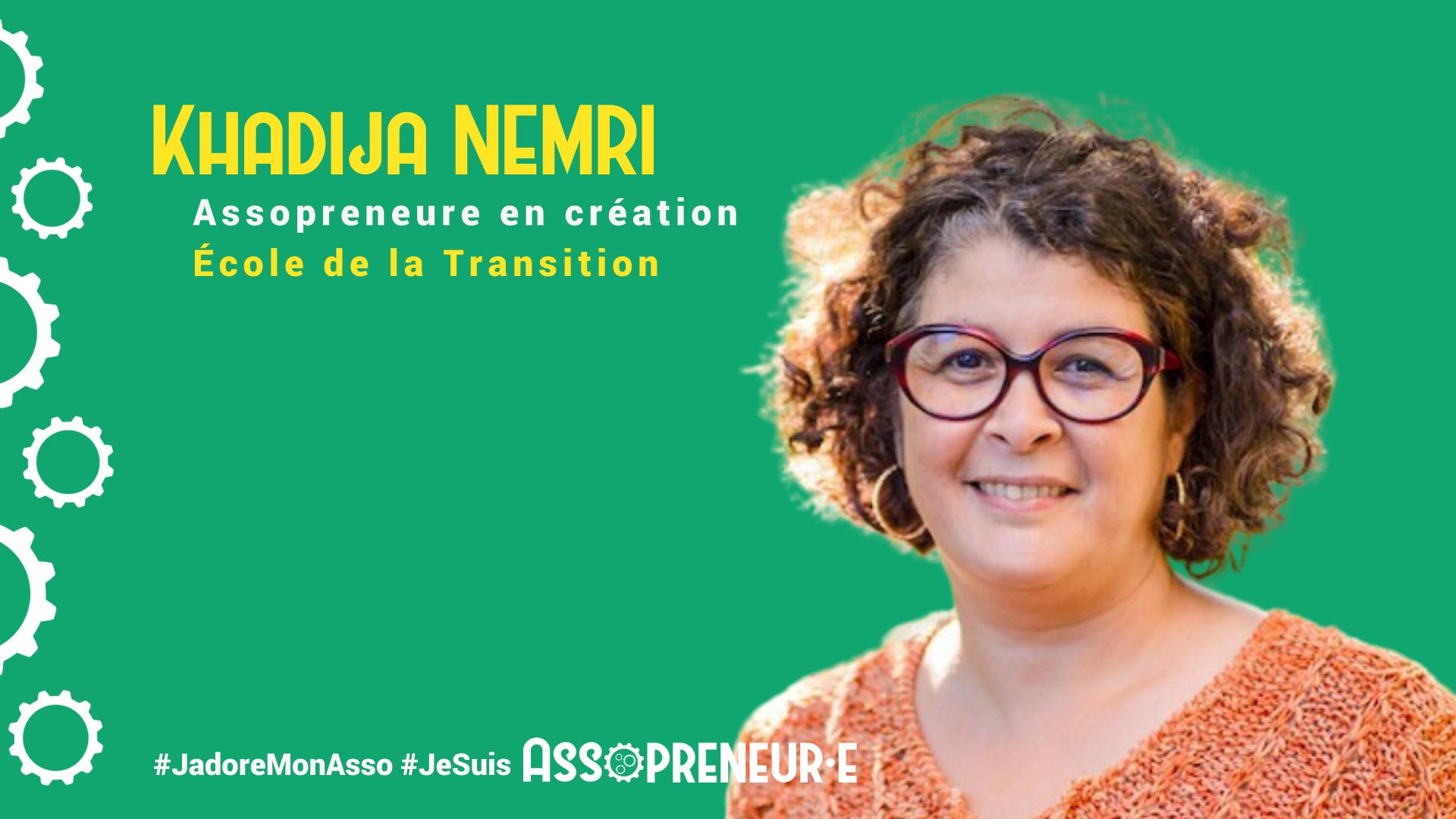 Khadija NEMRI membre programme Assopreneur