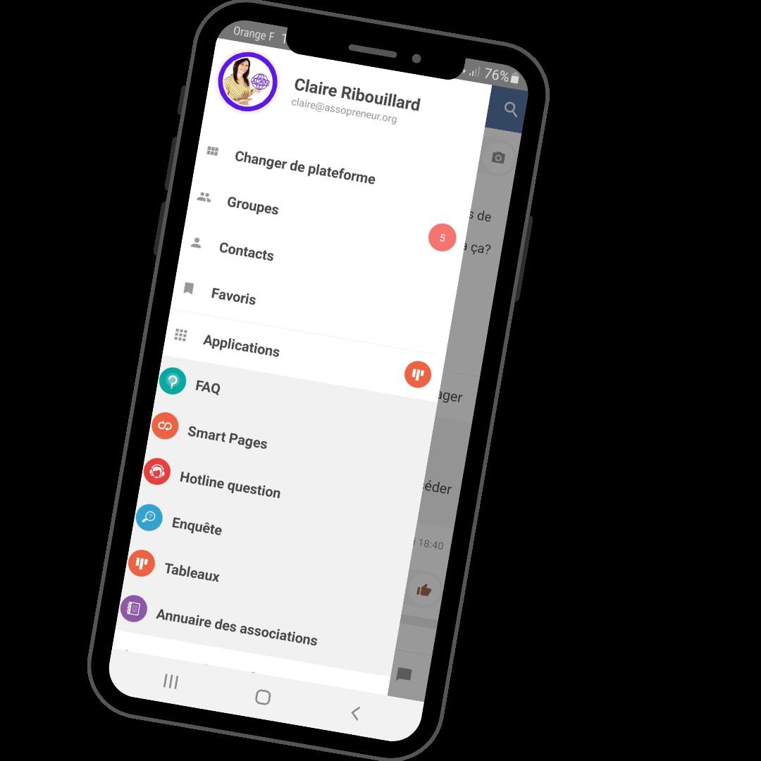 espace membre assopreneur dispo sur app mobile jamespot